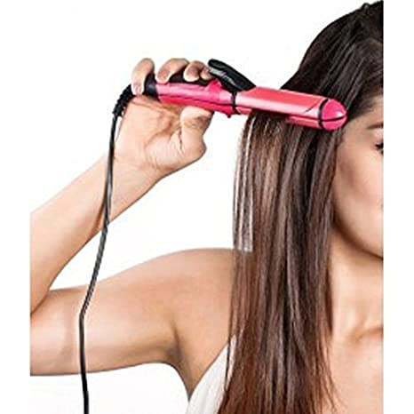 Innova 2-in-1 Ceramic Plate Hair Straightener with Curler