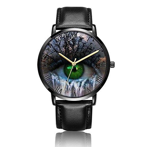 Fashion Evil Eye Quartz Wrist Watch & Black Premium PU Leather Bracelet Wrist Watch For Women and - Watch Eye Quartz