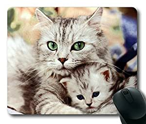 Mother Cat Held the Kitten Rectangle mouse pad Your Perfect Choice