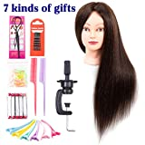 Mannequin Head with Human Hair 60% Straight Professional Bride Hairdressing Training Head