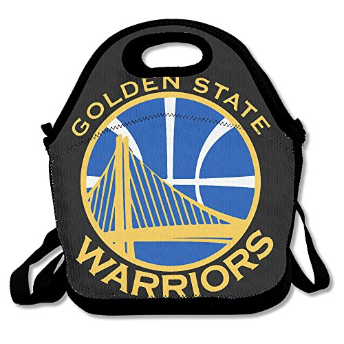 (NaDeShop Golden State Basketball Team Lunch Bag Tote)