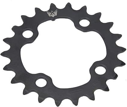 Keenso Plato de Bicicleta de Acero al Carbono de 9 Velocidades BCD ...