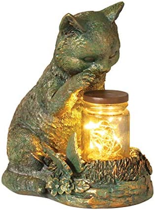 WHAT ON EARTH Lighted Kitten Sculpture