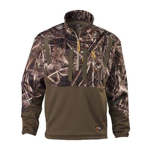 (Browning Dirty Bird Timber Soft Shell 1/4 Zip Top, Realtree Max-5, Large)