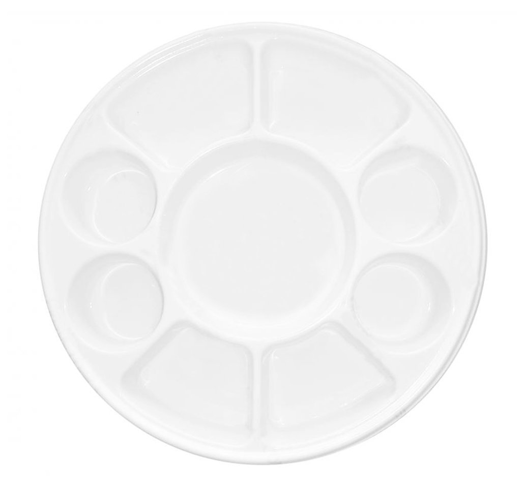 Quality Disposable Plastic Plates With 9 Compartments By Ekarro - Pack of 100 Pieces by Ekarro