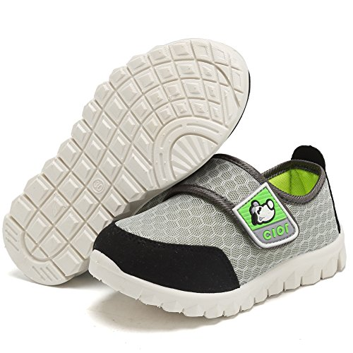 CIOR Kid's Mesh Lightweight Sneakers Baby Breathable Slip-On For Boy and Girl's Running Beach Shoes(Toddler/Little Kid) 28