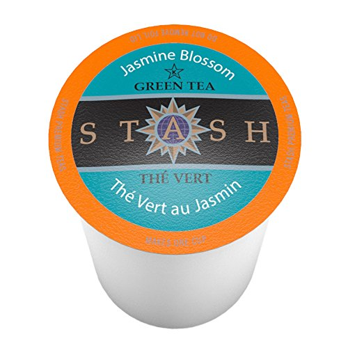 Stash Tea, Jasmine Blossom Single Cup Tea for Keurig K-Cup Brewers, 24 Count (Worlds Largest Cup)