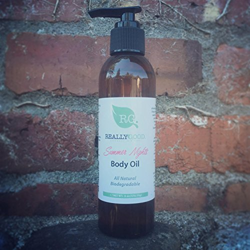 Really Good Skin Care All Natural, Certified Cruelty Free & Vegan Deep Hydrating Body Oil, 6 oz - Summer Nights Summer Seasonal *AVAILABLE FOR A LIMITED TIME ONLY*