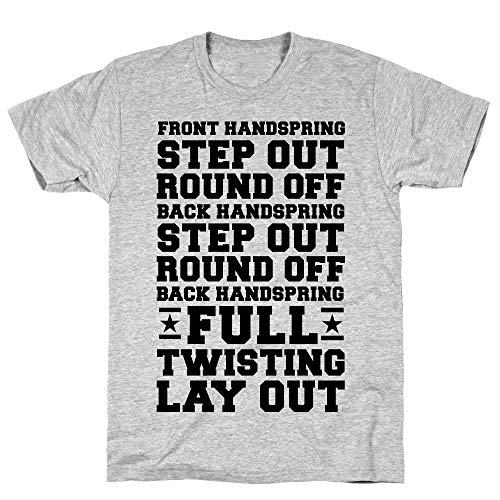 LookHUMAN Front Handspring Step Out 2X Athletic Gray Men's Cotton Tee -