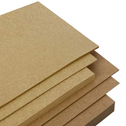 Liwut - Cartulina de papel kraft natural reciclado, A4, 80 g/m², papel grueso para hacer tarjetas, papel de manualidades,...