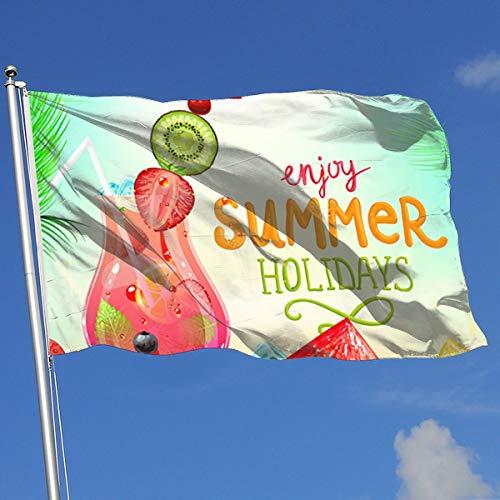 MOANDJI Decorative House Flags - Summer Holiday Watermelon Outdoor Seasonal and Holiday Yard Flag Banner 3x5 Foot