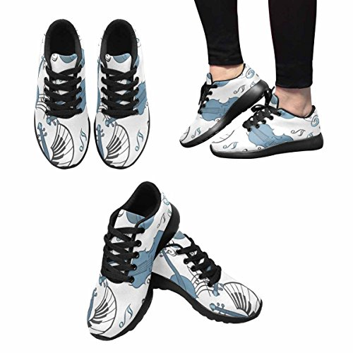 InterestPrint Womens Jogging Running Sneaker Lightweight Go Easy Walking Comfort Sports Running Shoes Multi 7 Af0u7y6aW