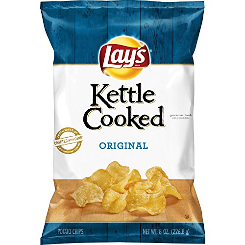Lay's Kettle Cooked Original Potato Chips, 8 Ounce