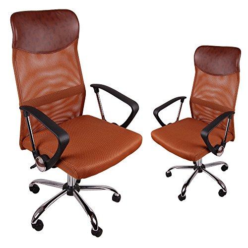 Ergonomico BSX – Respaldo alto silla de oficina de malla, – Silla gaming para ordenador, adolescente juego silla, silla de oficina, ordenador silla, ergonomico silla de escritorio. (Marron)