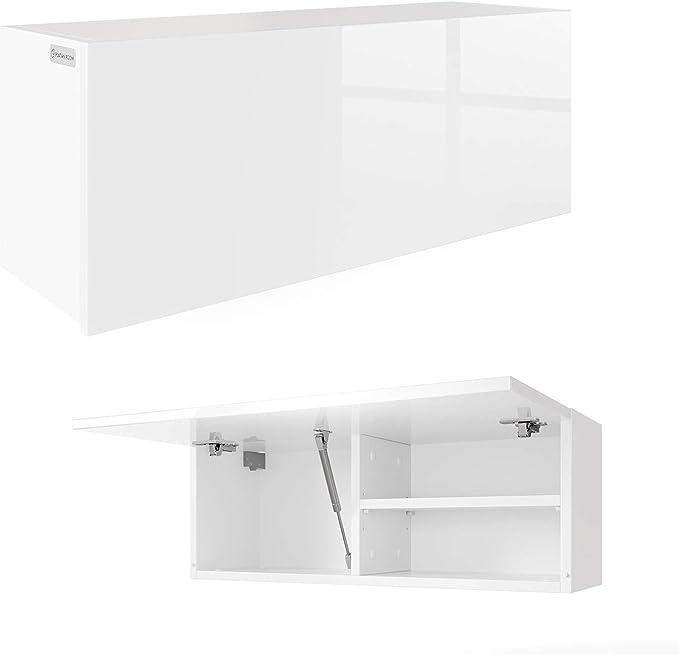 Armario de pared para baño, 80 cm, color blanco brillante: Amazon.es: Hogar