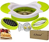 Easy Grip Thin Apple/Mango Slicer/Cutter and Potato Slicer for french fries Complete Bundle With Garlic Crusher much easier than a Press