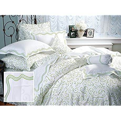 Portofino Sheet Sets King 1 Flat 1 Fitted 2 Std Shams Green
