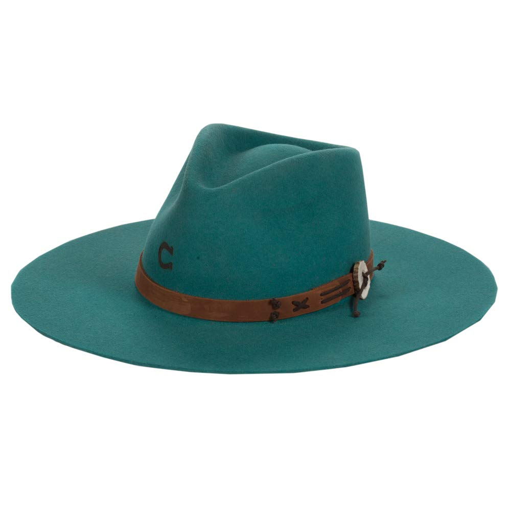 Charlie 1 Horse Teal Tee Pee Hat Large