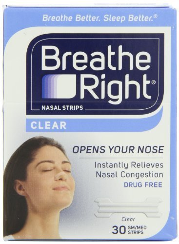 Breathe Right Nasal Strips, Small/Medium, Clear, 30 Count Personal Healthcare / Health Care