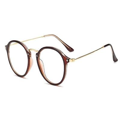 54d152d2a3b585 AiweijiaCadre de lunettes rond optique vintage homme femme avec lentille  transparente