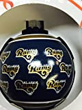 St Louis Rams Repeat Print Glass Ball Ornament
