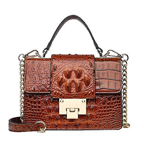 - Chain Crossbody Bags,SIN+MON Women's Premium Alligator Leather Purses Top-handle Handbags Satchels Shoulder Bags Tote Bag
