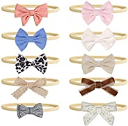 Mespok Baby Girl Headbands and Bows, 10 Different Chic Colors and Styles Newborn Infant Toddler Hair Accessori