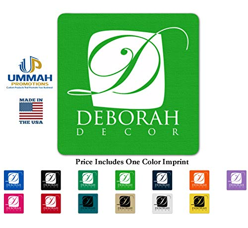 Custom Imprinted Envelopes - 300 Personalized Square Rubber Jar Opener 4SQ Printed With Your Logo/Message/Name