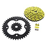 2006-2010 Suzuki LTR450 450 QuadRacer Yellow Chain Black Sprocket 15/40 104L