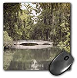 3dRose Stamp City - architecture - Photograph of white bridge at Magnolia Plantation and Gardens. - MousePad (mp_289749_1)