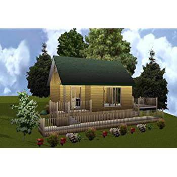Easy Cabin Designs 16x24 Cabin W/loft Plans Package, Blueprints, Material  List