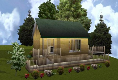 Easy Cabin Designs 16x24 Cabin W/loft Plans Package, for sale  Delivered anywhere in USA