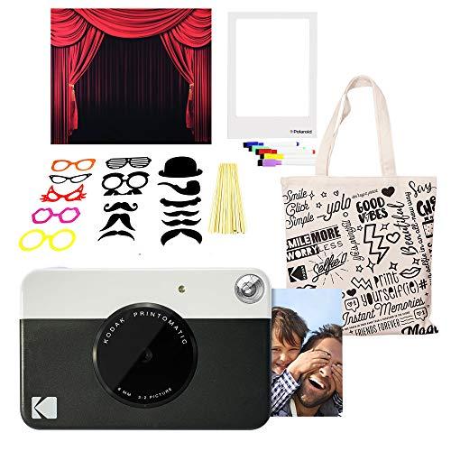- Kodak PRINTOMATIC Instant Print Camera (Black) Photo Booth Kit