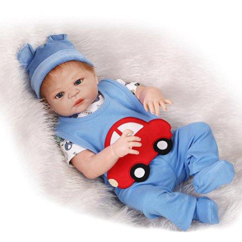 icradle 23インチ57 cm Realistic Lifelike Baby BoyソフトシリコンReborn人形幼児用フルボディソフトシリコン新生児Dolls解剖学的に正しいクリスマスギフト   B07BW8BD79