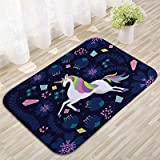 gel kitchen mats target Linker Wish Padded Kitchen Mat Cute Dream Unicorn Velvet Rug Mat Kids Floor Carpet Bedroom Bay Window Mat Seat Pad Bathroom Mats Anti Slip