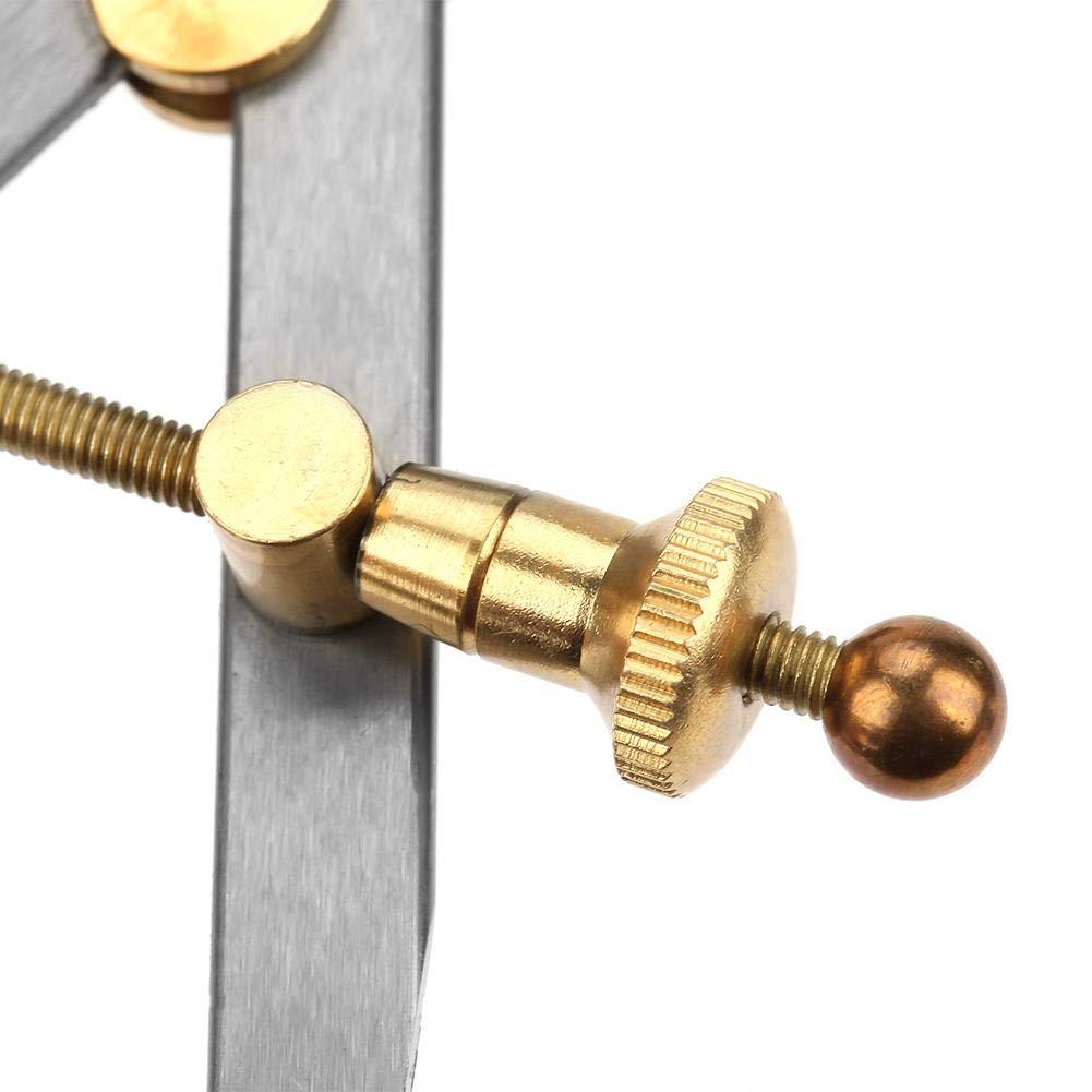 Jarchii Strumento Bussola in Pelle divisore Durevole da 100 mm graffio Rotante Bussola in Pelle per Strumenti Fai-da-Te