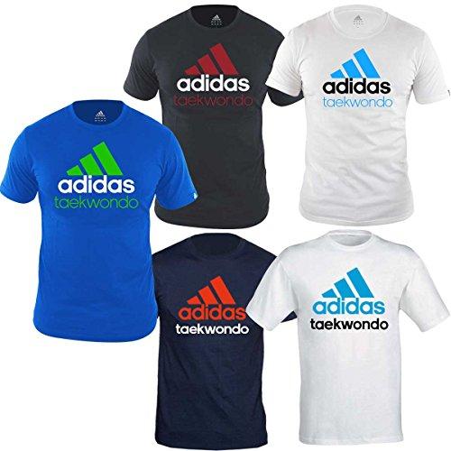Light shirt Con T Blue Taekwondo Community Stampa Green fluo Adidas pwYAqY