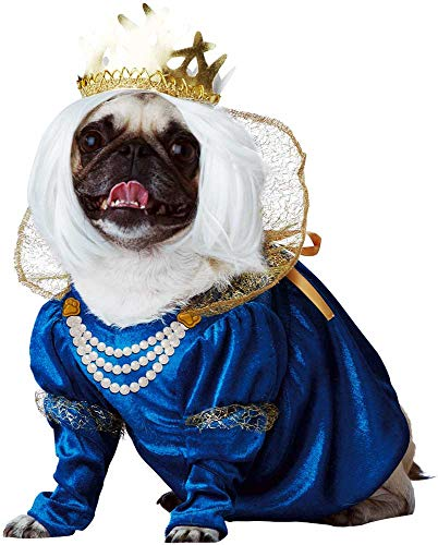 (Royal Queen Highness Pup-A-Razzi Dog Princess Dress Renaissance Costume)