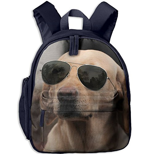 Lightweight Kids School Backpacks Cool Dog With Sunglasses School Bag Custom Printed Book Bags Cute - Sunglasses Custom Printed