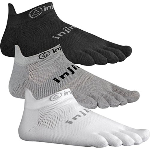 Injinji Run 2.0 Lightweight No Show Toe Socks 3 Pack