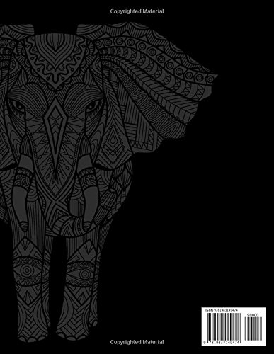 Stunning Animals: Adults Coloring Book Stress Relieving Unique Design -