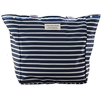 cefb4d6aa1 Buy Brooke   Celine Beach Bag Blue and White Stripes Shopping Bags Size Big  Online at Low Prices in India - Amazon.in