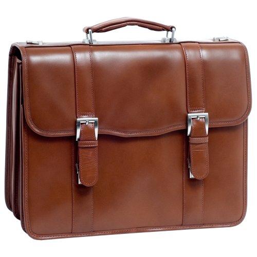 McKleinUSA FLOURNOY 85954 Brown Leather Double Compartment Laptop Case by McKleinUSA