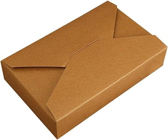Tong Yue Set de 5 Simple sobre Creative Caja para Galletas Pastel Embalaje de Papel Kraft, 19,5 * 12,5 * 4 CM: Amazon.es: Hogar