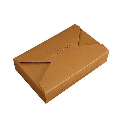 Set de 5 simple sobre Creative caja para galletas pastel embalaje de papel Kraft, 19