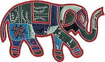 Diseño de parche de CD adhesivo para planchado para - diseño de animales de elefante Trunk Patchwork de agua con conector para de decoración con apliques