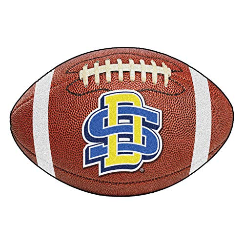 FANMATS NCAA South Dakota State University Jackrabbits Nylon Face Football Rug