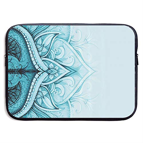 Mandala Traditional Ethnic Ornamental Lace Border Laptop Sleeve Case Bags Sleeve Cover Bag Protection Tablet Case for 13 Inch Computer