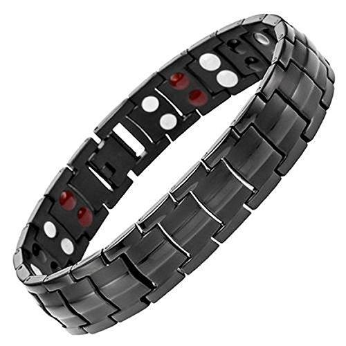 Starista Jewelry Pure Titanium Double Row 4 Elements Magnetic Health Bracelet Power Wristband...