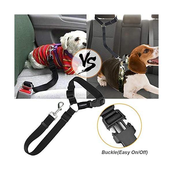 51YZrTFTVRL CGBOOM Universal Hunde Sicherheitsgurt fürs Auto Kopfstütze, Multifunktions Verstellbar Hundegurt Sicherheitsgeschirr…